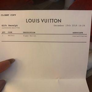 Louis Vuitton Zippy Wallet purchase 12/18